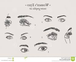 eyes drawings vector eyes drawings set graphic womens hand drawn image soidergi