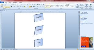 How To Make Flow Chart In Ms Word How To Create Flowcharts With Microsoft Word 2010 And 2013