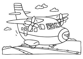 Kleurplaat Kleuren Voor Kinderen Vliegtuig Kleurplaten En Vervoer
