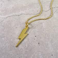 lightning bolt necklace gold vermeil
