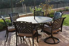 nassau cast aluminum powder coated 7pc set with 60 round table antique bronze