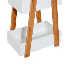 Homcom Badregal Treppenregal Regal 3 Ebenen Weiß L21 X B30 X H81 Cm