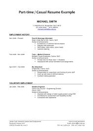 resume template  resume objective   time job resume cover    resume objective   time job   bar attendant experience