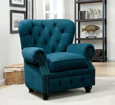 Teal Living Room Chair Furniture Of America Cm6269tl Ch Stanford Traditional Dark Teal