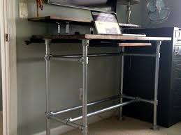 diy standing desk pipe.  Standing 10 DIY Standing Desks Built With Pipe And Kee Klamp Inside Diy Desk O