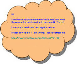 Masturbation testosterone hair loss