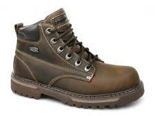 skechers work boots. skechers cool cat bully ii mens oily leather lace-up padded ankle boots brown work