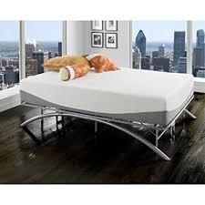 Amazon.com: King Size Ellipse Arch Platform Bed Frame, Brushed ...