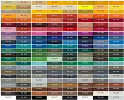 Ral Colour Chart Warwick Glass Induced Info