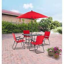 Patio furniture dining sets with umbrella Piece Image Is Loading Mainstaysoutdoortable4chairsgardenpatiofurniture Ebay Mainstays Outdoor Table Chairs Garden Patio Furniture Dining Set