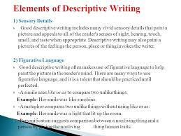 descriptive writing ppt video online  elements of descriptive writing