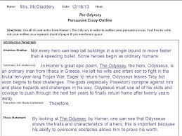 how to write a thesis take a position yes odysseus is a hero  2 mrs mcgladdery not every hero