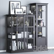 ikea malsjÖ glass door cabinets black