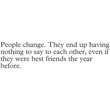 Friends Change Quotes