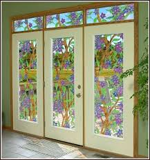stained glass window clear stained glass window cling window world stained glass window