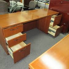 kimball cherry writing table credenza bookcase end table set