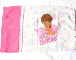 1990's Barbie Pillow Case . 1995 . African American . Black Barbie . little  girls .