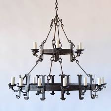 vintage 2 tier iron ring chandelier