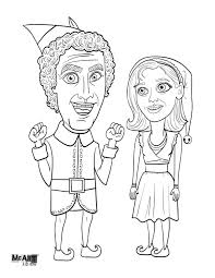 Santa's sprite helpers coloring pages. Buddy The Elf Coloring Pages Coloring Home