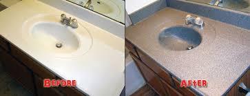 eye catching refinishing bathroom sink of countertops