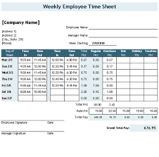 Download The Time Sheet Template With Breaks From Vertex42.com ...