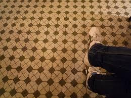 brown beige retro floor idea