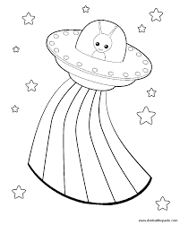 Aliens Box Coloring Page And A Blank Template Worksheets