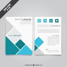 Business Flyer Template Free Download Business Brochure With Squares Vector Free Download
