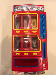 MM Vending Machine Fascinating Mars Collectible MM Vending BANK Candy Bar Machine DISPENSER Toy