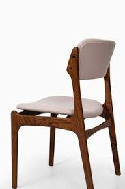 rare set of 6 dining chairs model designed by erik buck produced by oddense maskinsnedkeri a s in denmark rosewood and fabric excellent v