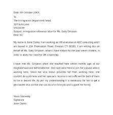 Letter Of Recommendation For Immigration Purposes Immigration Recommendation Letter Sample Ijbcr Co