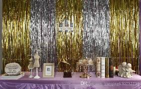 2018 3m 1m metallic foil fringe door rain curtains party wedding photo booth props marriage gathering backdrop decorations from xueqing630752733