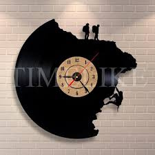 large decorative wall clocks vinyl record clock climbing shape 3d acrylic art watch antique style quartz