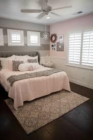 living ideas bedroom bright pink accents wall light grey dark flooring
