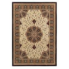 eredita black and cream rug top