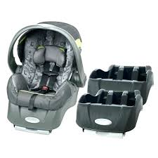 infant car seat embrace with extra base breakout evenflo safemax