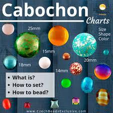 Cabochon Size Chart 2pcs Round Domed Czech Glass Cabochon 18mm