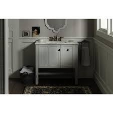 ffd bathroom shelves kohler tresham  in w x    in d x    in h vanity cabinet in linen white