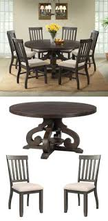 stone round dining table 6 side chairs by elements international round dining table setsbreakfast nookdining room furnitureside