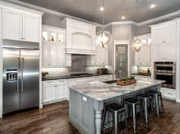 cabinet in kitchen design. Perfect Design Classic L Shaped Kitchen Remodel With White Cabinet And Gray Island Marble  Countertop Amazing Ideas Of In Design N
