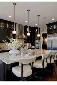 ... Kitchen, Love The Rich Look Of The Dark Cabinets Paired With The Light  Granite Color ...