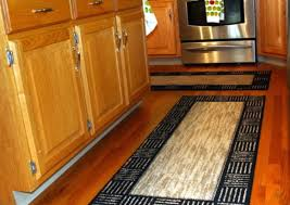 design ideas contemporary kitchen runner rug in black and cream combination with awesome stripe pattern style