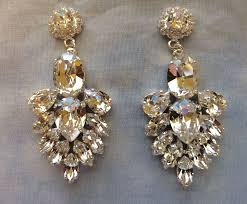 clear crystal bridal statement earrings images of