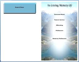 Free Funeral Program Templates Template For Office Publisher