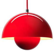 funky pendant lighting. bright red aluminium flowerpot ceiling light funky pendant lighting