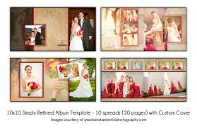 Psd Wedding Album Template Simply Refined 12x2 10 Spread