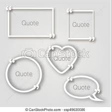 Paper Frames Templates White Quote Bubble Paper Frames In Realistic Style Different Shapes Paper Frames Templates With Commas