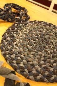 braided rug diy diy chunky braided wool rug