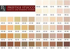 Stucco Colors Chart We Recommend You Contact Prestige