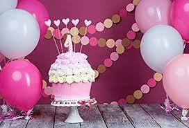 Amazoncom Leowefowa 1st Birthday Cake Table Decorations Backdrop